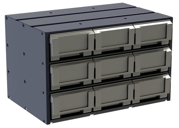 COMPOSITE PARTS DRAWER CABINET - 9-DRAWER