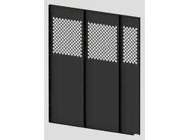 Tall Steel Partition Perforated