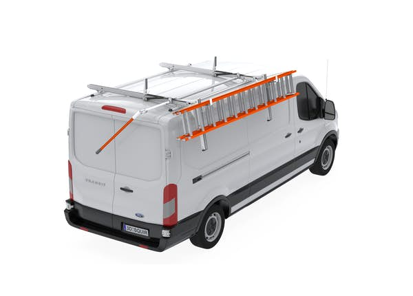 UPLYFT SINGLE LADDER RACK EXTENDED SLIDE-DOWN - Ford Transit Medium & High Roof